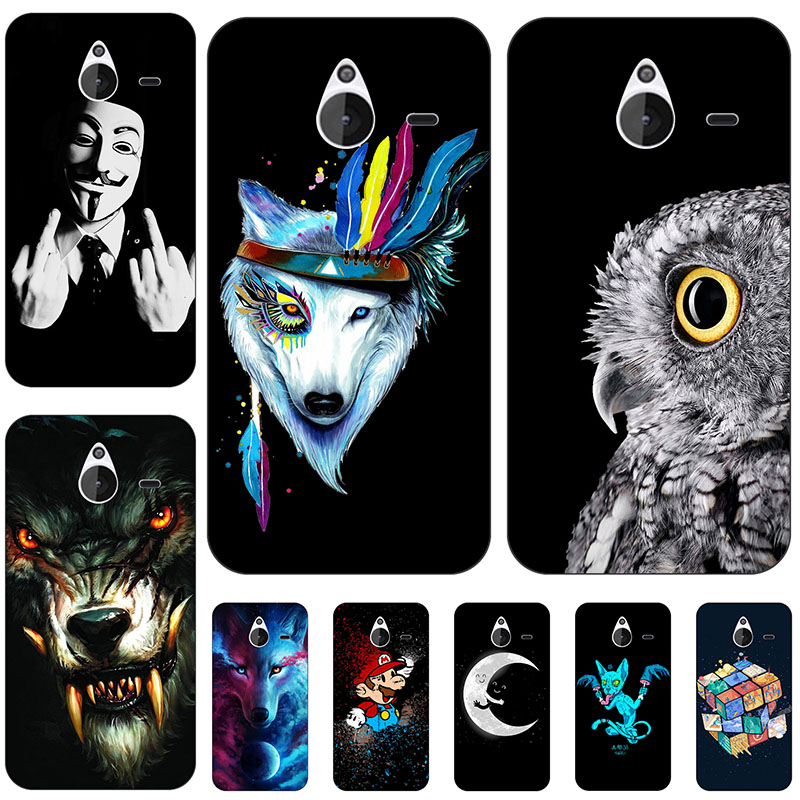 animal Wolf Cat Back Cover For Microsoft Lumia 540 Protect Case shell Capa Funda For Nokia Lumia 550 625 640 640XL 650 730 920 image