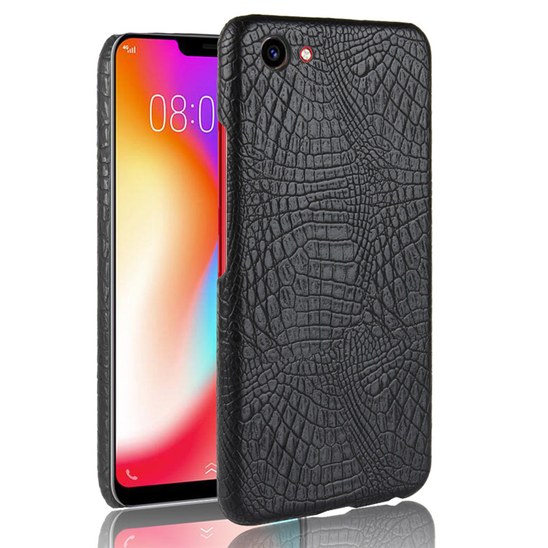 For VIVO Y81 Case Luxury Crocodile Pattern Skin Hard PC Back