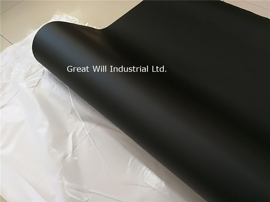 Matte Black Vinyl Wrap Film Satin Black Vinyl Car Wrap Auto Vehicle Wrapping Covering Foil With Release Size 1.52*30m/Roll