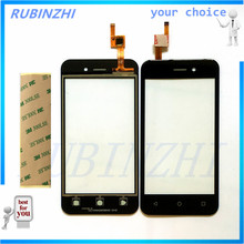 RUBINZHI High Quality Touch Screen Digitizer For Fly 5S Touchscreen Replacement Front Glass Touch Panel Sensor Lens+tape new data collector touchscreen for trimble tsc3 amt 10476 touch screen digitizer sensors front lens glass replacement