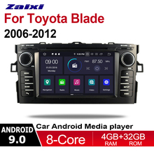 ZaiXi For Toyota Blade 2006~2012 2 DIN Car Android 9 GPS Naviation Multimedia system Bluetooth Radio Amplifier WIFI HD Screen blade 180qx hd