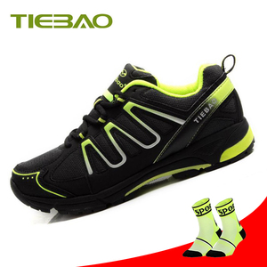 TIEBAO Pro Leisure Cycling Shoes Mountain Bike MTB Shoes Men Green Mountain Bike Sneakers Riding Cycling Women Triathlon Shoes