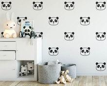 Cartoon Cute Panda Face Wall Decals Stickers Vinyl Home Decor For Kids Room Nursery Decoration Baby Bedroom DIY Children's N825