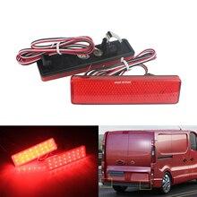 ANGRONG 2x LEDด้านหลังกันชนReflectorไฟท้ายเลนส์สีแดงสำหรับOpel Vauxhall Vivaro Movano A