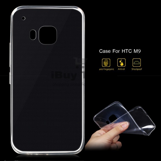 uk availability d227f bdadc US $1.99 |For HTC One M9 Case Super Thin Flexible Clear Silicone Back Cover  for HTC M9 Phone Transparent Protective Shell