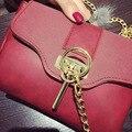 Women Crossbody Bag 2017 New Vintage Lock Chain Handle Flap PU Leather Shoulder Bags Designer Handbags High Quality Bolsos Mujer