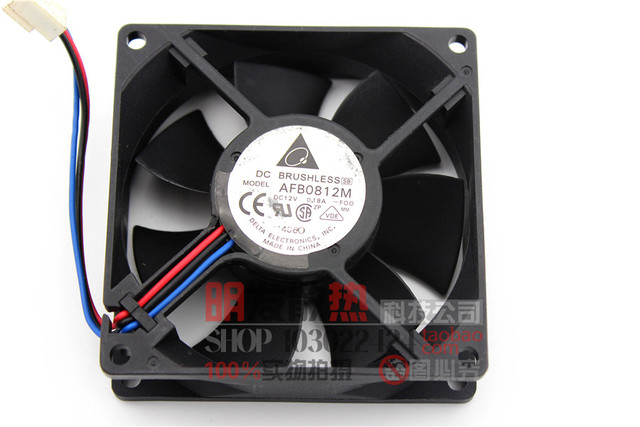 Genuine 8CM cooling fan 8025 0.18A 0812M 12V two wire /3 line quality assurance