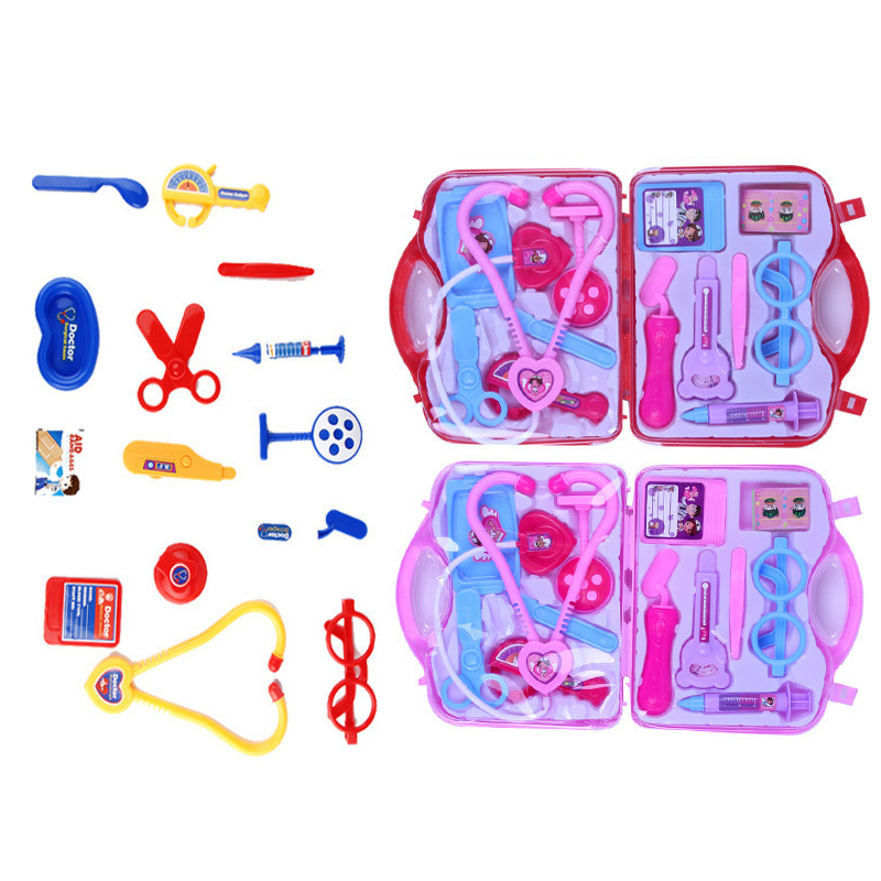 Doctor Pretend Play Toys Luggage Kits For Children Medical Kids Baby Educational Box Light Role Play Toys Gift