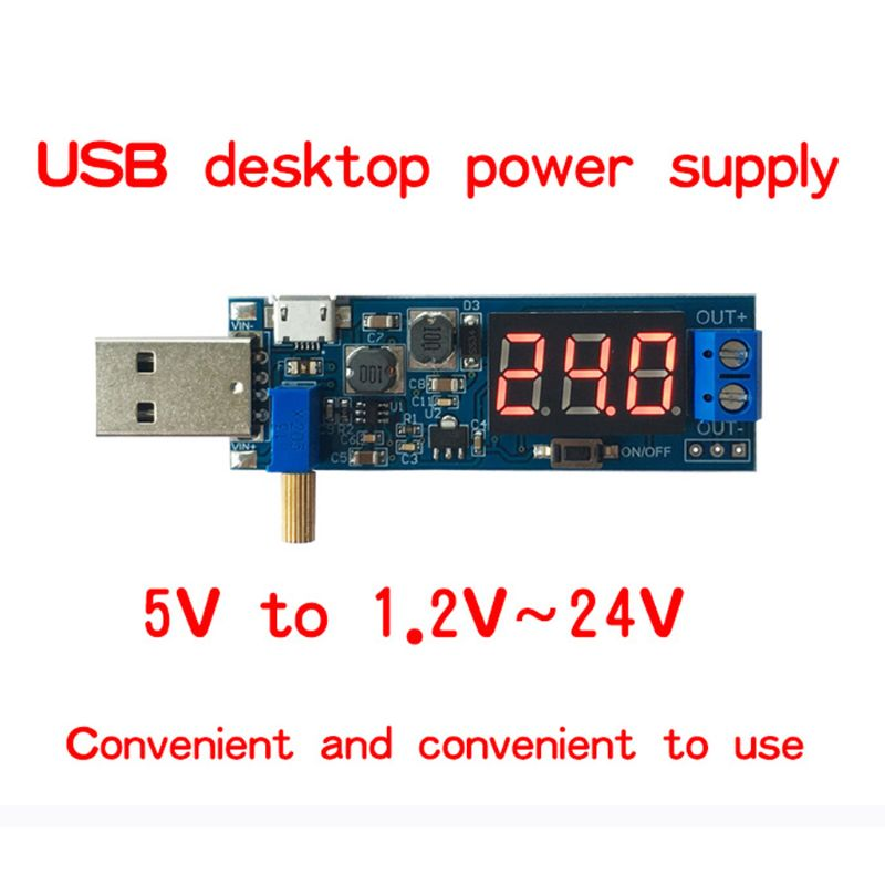 2019 New DC-DC 5V to 1.2V-24V USB Step UP/Down Power Supply Module Adjustable Converter Electrical Equipment