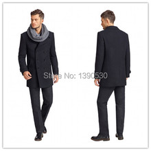 Новое Поступление зима Британский Стиль Классический Траншеи Пальто Мужчины Длинные Двойной Брестед шесть кнопок 100% кашемир зимняя куртка мужчины