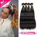 Malibu Dollface Wiggins Hair Brazilian Virgin Hair Straight 4 Bundles  Unprocessed Virgin Brazilian Straight Hair Weave Bundles