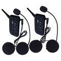 2 Pcs fone de Ouvido BT Sem Fio Bluetooth 3.0 Headset Capacete Da Motocicleta fone de Ouvido Intercomunicador Interfone V6 1200 m Distância