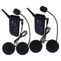 2 Unids Auricular BT Wireless Bluetooth 3.0 Headset Casco de La Motocicleta Intercom Headset Interphone V6 1200 m Distancia