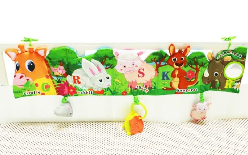 Infant Activity Book Cartoon Animal Soft Baby Educational Toy Cloth Book Plush Animal Story Intelligence Developing Toy KF030 8