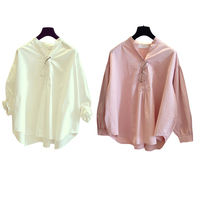 Brand new Women Long Sleeve Solid Color Loose Blouses V-neck Pullover Spring Autumn Top Shirt