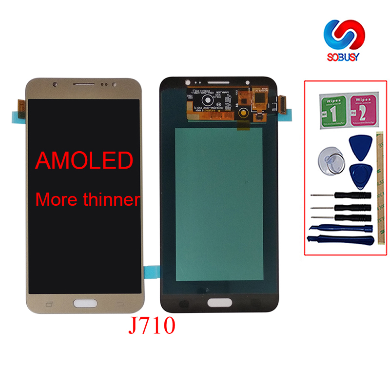 Super Amoled HD LCD For Samsung Galaxy J7 2016 J710 SM-J710F J710M J710H J710FN LCD Display Touch Screen Digitizer Assembly PartSuper Amoled HD LCD For Samsung Galaxy J7 2016 J710 SM-J710F J710M J710H J710FN LCD Display Touch Screen Digitizer Assembly Part