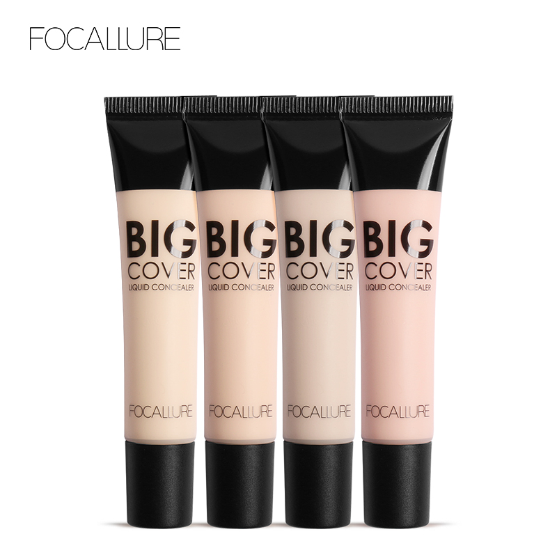 FOCALLURE 4 colors Liquid Concealer cream Makeup facial corrector Waterproof Natural Base Foundation Cosmetic image