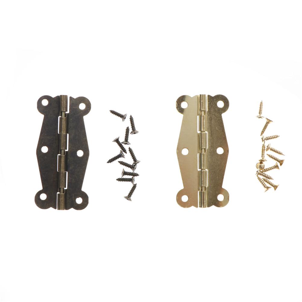 Antique Bronze Cabinet Hinges Furniture Accessories Small Wooden Gift Box Hinge Fitting for Furniture Hardware+Srew