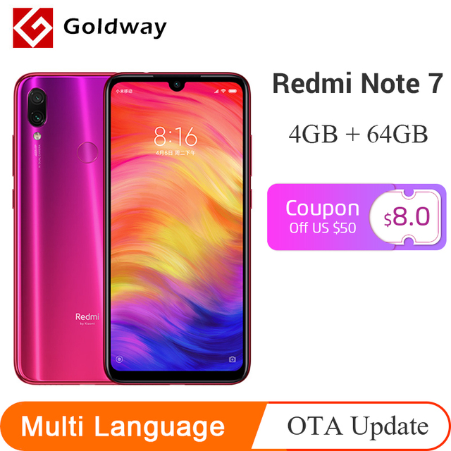 US $198 29 |Global ROM Xiaomi Redmi Note 7 Mobile Phone 4GB RAM 64GB ROM  Snapdragon 660 Octa Core 4000mAh 6 3