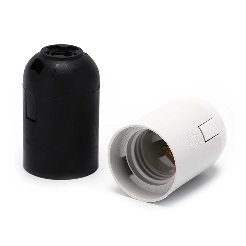 10 pcs E27 suportes para lâmpadas Pingente Screw Cap Tomada 250 V 4A Preto E27 Suporte Da Lâmpada de Base