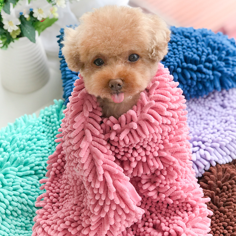 Pet Strong Absorbent Towel Quick drying Dog Cat Bath Towel Small Large Teddy Small Animal Puppy Hair Store Pet Shop Accessories