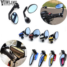Universal Motorcycle Mirror View Side Rear Mirror 22\24mm Handle bar For Ducati MONSTER 400 620 695 696 796 821 1100 1200 for ducati 695 696 796 1100 1200 universal motorcycle 7 8 22mm rearview mirror handle bar end blue side mirror silver