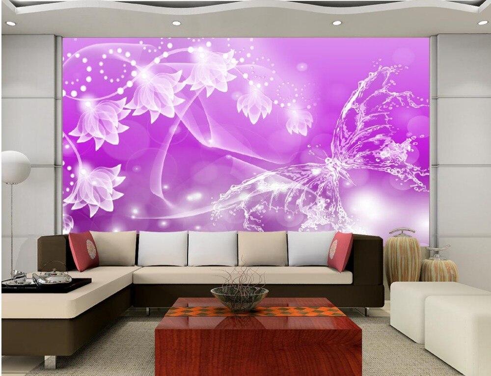 Aliexpress.com : 3d Badezimmer Tapete 2016 Fantasie Transparent Lila Blumen  Schmetterling Foto Wandbilder Wallpaper Dekoration Von Verlässlichen  Wallpaper ...