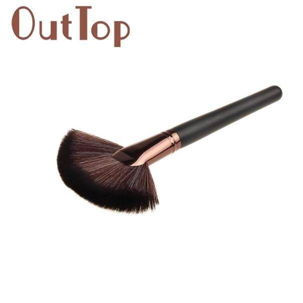 2017 Hot 1PC Makeup brushes Large Fan Goat Hair Blush Face Powder Foundation Cosmetic Blush make up Brush Mar31