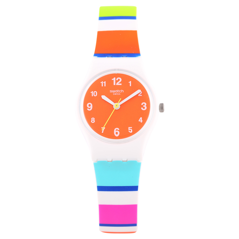Swatch Watches Lady Series Enthusiastic and colorful striped quartz watch LW158 swatch original colorful quartz watch suob135