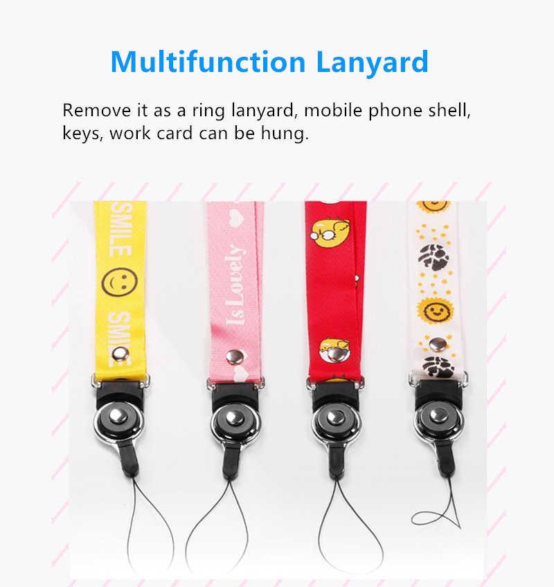 Correias do telefone móvel pescoço correia para huawei honer 6/6 plus/7/9i/x1/x2/4c/4x/5 pendurar corda lariat correia de corrente para chaves id cartão