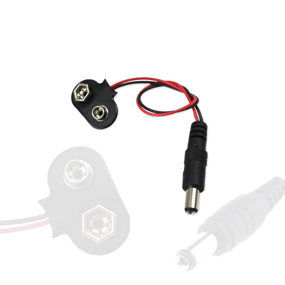 Экспериментальный 9 В Батарея кнопки Мощность кабель к DC 9 В клип мужской линии Батарея адаптер для <font><b>arduino</b></font> UNO R3 мега 2560
