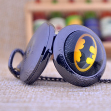 Batman Black/Bronze/Silver Pendant Necklace Pocket Watch Fob Watch