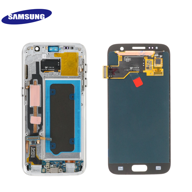 HTB1evs S3HqK1RjSZFEq6AGMXXa2 ORIGINAL 5.1'' SUPER AMOLED LCD For Samsung Galaxy S7 G930 SM-G930F G930F LCD Display With Touch Screen Digitizer Replacement