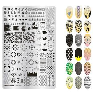 Трафареты для ногтей, 1 шт., модный дизайн, Женский лак для стемпинга, шаблоны для ногтей, изображение для красоты, сделай сам, для дизайна ног...
