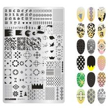 1pcs Fashion Designs Flower Women Polish Stamping For Nails Template Beauty Image DIY Nail Art Stamp Plates Nail Stencils