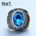 Beier new store 316L Stainless Steel ring Titanium Steel Retro Old Totem  ring Factory Price fashion jewelry BR8-334