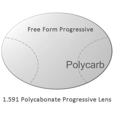 b39147727e 1.59 Index Polycarbonate Free Form Progressive Lenses For Multifocal  Eyeglasses Myopia   Presbyopia