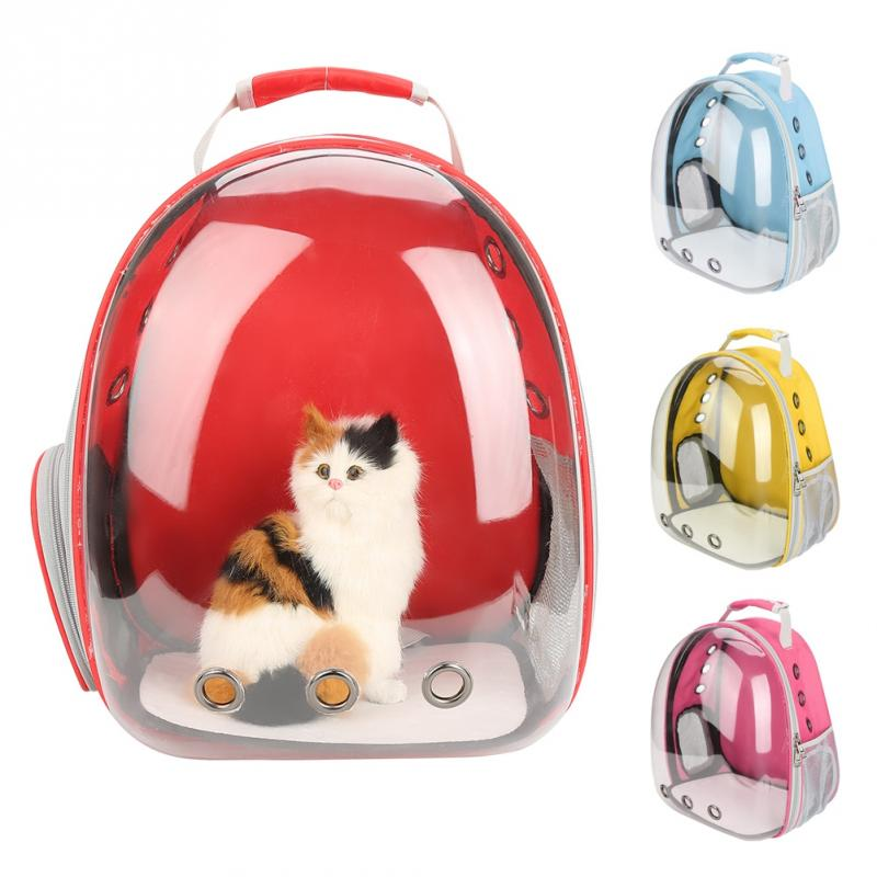 Capsule Backpack Cat-Bag Bird Carrying-Cages Parrot Travel Transparent Portable Kitten