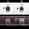 12 pcs Antique Brass decorativa Mini caixa de jóias caixa gabinete Dresser gaveta Pull Knob anel puxador da porta com parafuso prego