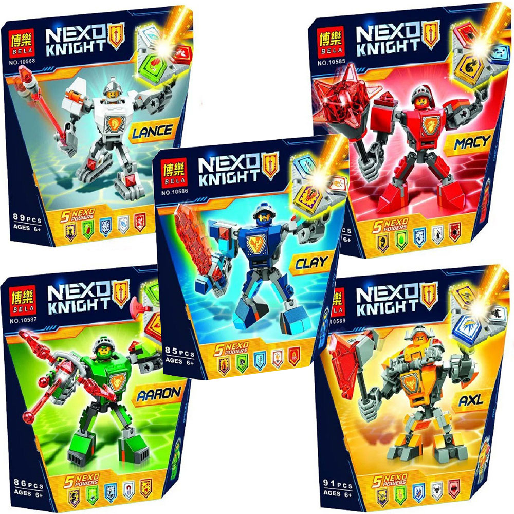 Nexo Knights Battle Suit Macy Clay Aaron Lance Axl Building Kit Compatible Legoings Clays 70362 Action Figure Building BlocksNexo Knights Battle Suit Macy Clay Aaron Lance Axl Building Kit Compatible Legoings Clays 70362 Action Figure Building Blocks