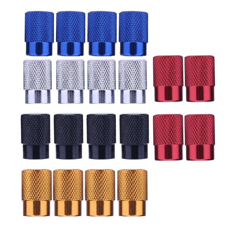 VODOOL 4Pcs/set Aluminum Auto Bicycle Car Tire Valve Caps Dust Covers Wheel Air Stems Cover Tyre Airtight Rims Accessories New