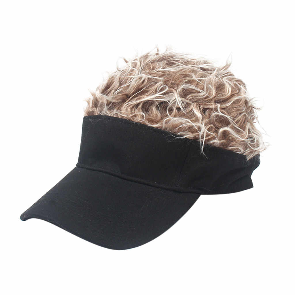 2019 New unisex Funny Wig Cap Flair Hair Visor Casual Golf Caps Outdoor Wig Baseball Cap Parent-child Street Trend OutdoorA30621