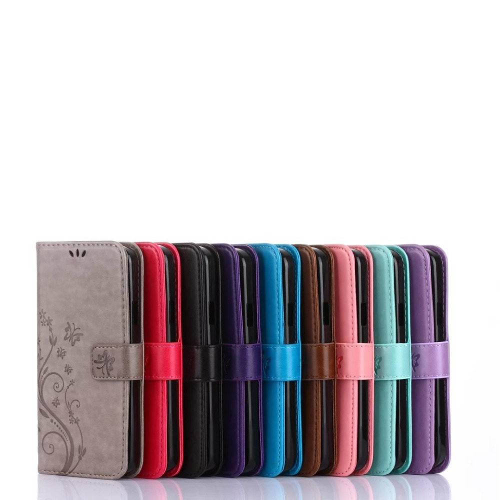 50Pcs/Lot Butterfly Printing Wallet PU Leather+TPU Case For Google Pixel/Pixel XL/For HTC 626/For Alcatel PIXI 3/For LG LS770