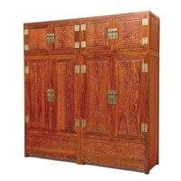 Китай Мин и Цин классический антикварный шкаф скульптура твердой древесины мебель китайский Ежик палисандр мебели 216*60*228 см
