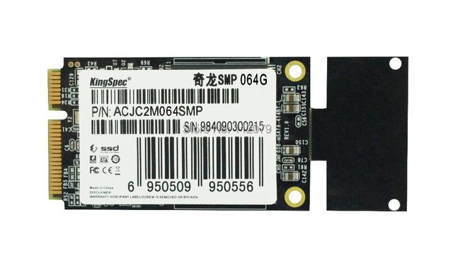 Sata mini pcie ssd de 64 gb kingspec disco (acjc2m064smp) unidades de estado sólido ajuste para asus eee pc s101 900a 900