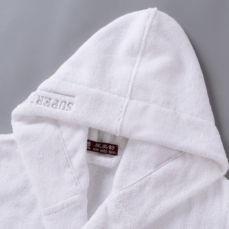 Image 4 - High Quality Men's Winter Bathrobe Male Long Thick Warm Terry Towel Dressing Gown Couple Home Hooded Bath Robes-in Robes from Underwear & Sleepwears