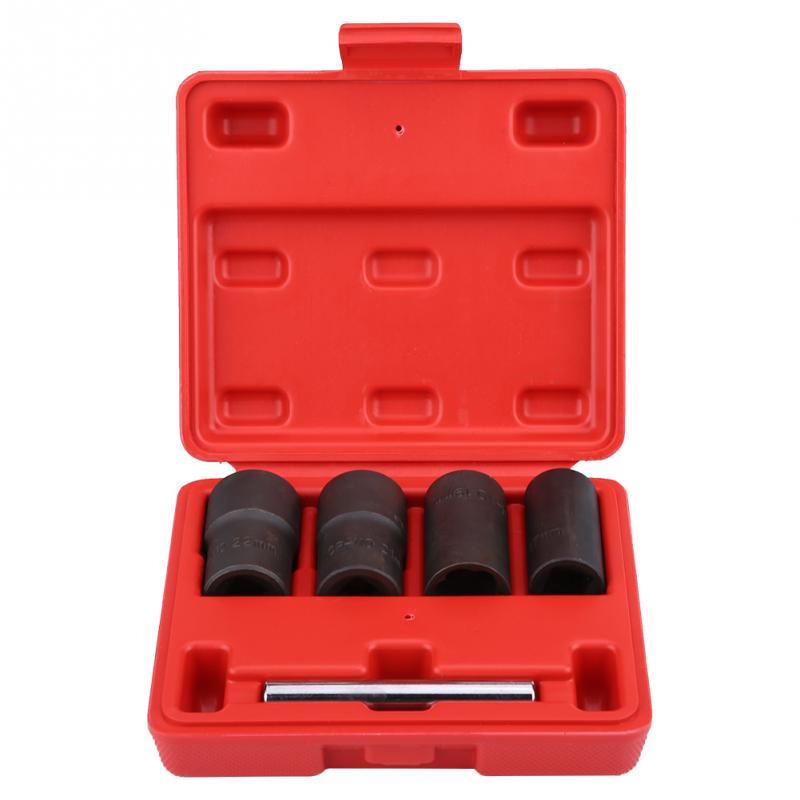 5Pcs Twist Socket Set Locking Wheel Nut Bolt Stud Extractor Removers 17mm 19mm 21mm 22mm Socket carbon steel
