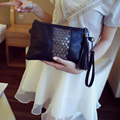 Soft Sheepskin Clutch Bag Genuine Leather Handbags Luxury Designer Ladies Hand Bag Organizer