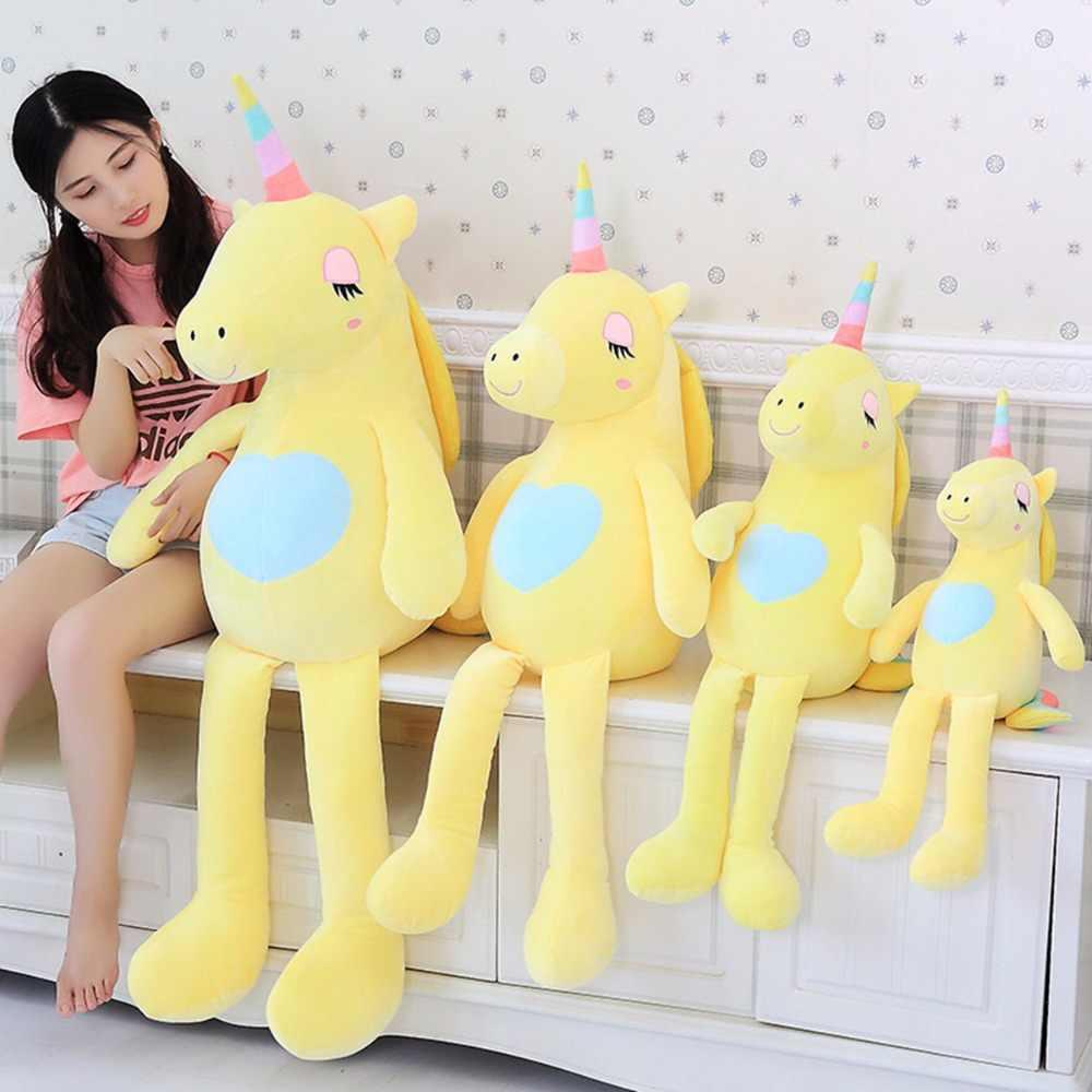 Huggable новый большой единорог плюшевые игрушки милая Радужная лошадка Мягкая кукла мягкие животные лучшие игрушки для детей подарок для девочки Рождество