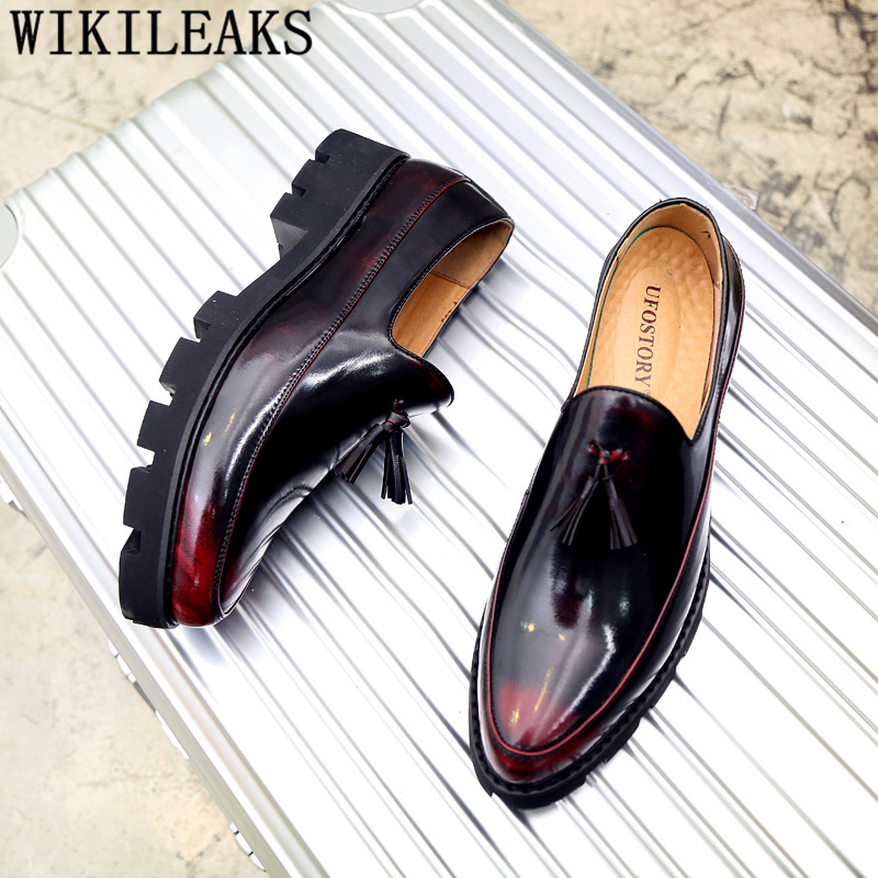 Italian Wedding Shoes Men Formal Coiffeur Loafers Men Dress Shoes Leather Brand Classic Shoes Men Elegant Sepatu Slip On Pria